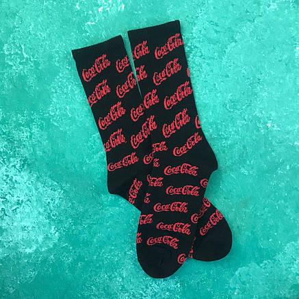 Шкарпетки Високі Жіночі Чоловічі Coca Cola Чорні 37-45, фото 2