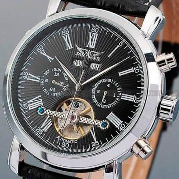 Jaragar Мужские классические механические часы Jaragar Silver Star 1009 с автоподзаводом и датой