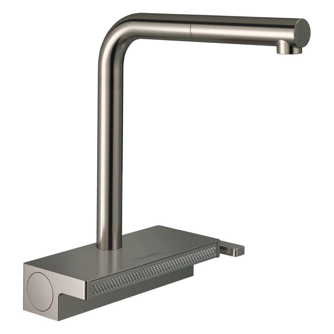 AQUNO SELECT M81 смеситель для кухни, однорычажный 250, с выдвижным душем, 2jet, sBox, цвет покрытия сталь