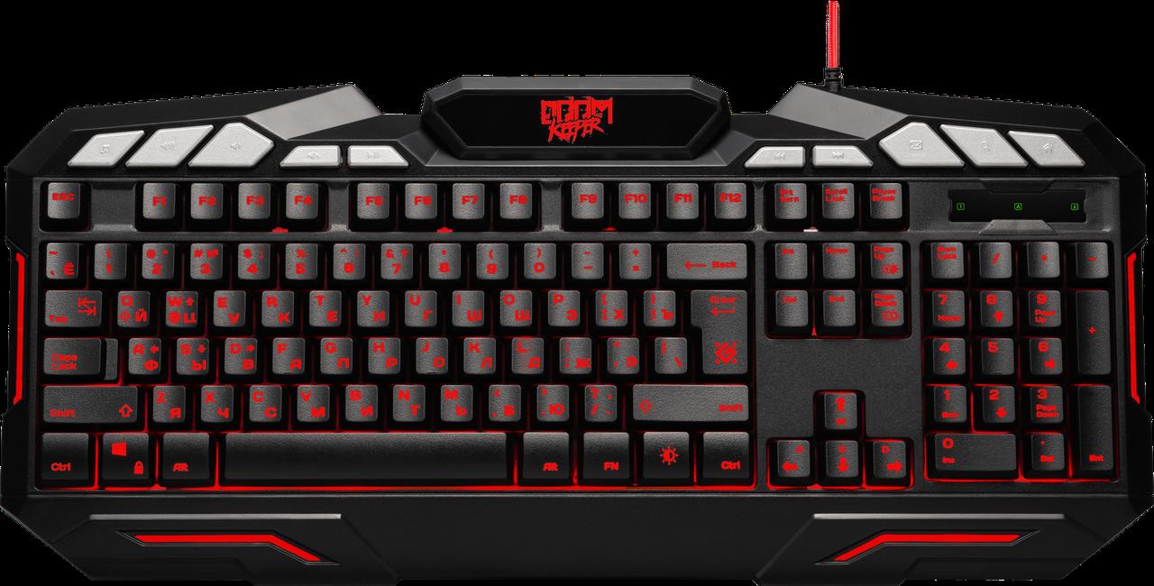 Клавиатура DEFENDER Doom Keeper GK-100DL RU,3-х цветная,19 Anti-Ghost