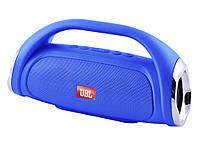 Опт. Bluetooth-колонка JBL BOOMBOX SMALL LQ-09 (с фонарем), c функцией speakerphone, Power Bank, радио Синий