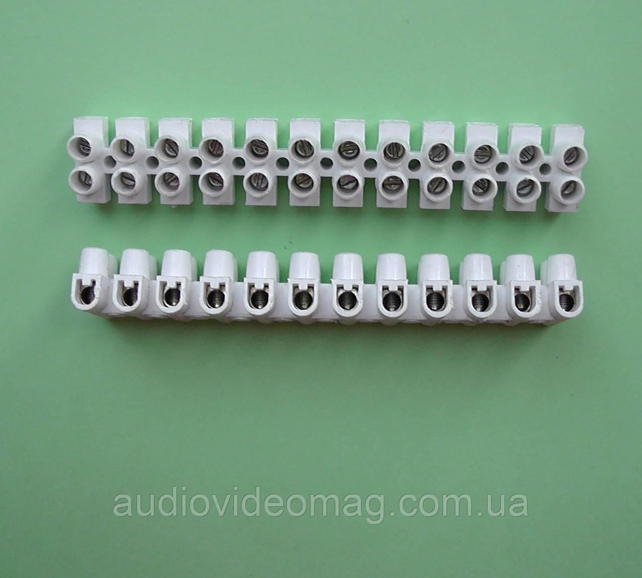 Клемна колодка 4 мм2 3А, пластик (РА) не підтримує горіння