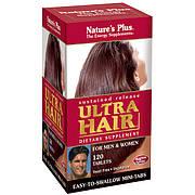 Комплекс для Роста Оздоровления Волос для Мужчин и Женщин, Ultra Hair, Natures Plus, 120 таблеток