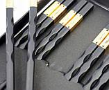 Палочки для еды эбонитовые чёрные набор 5 пар №2, фото 2