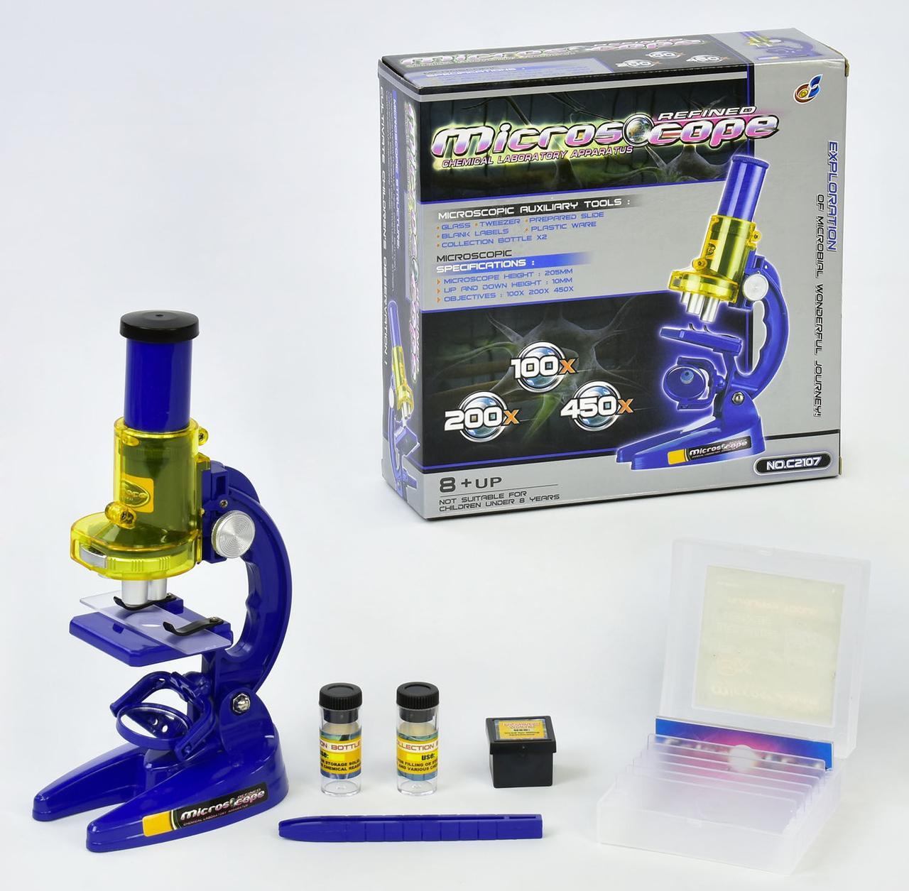 "Микроскоп ""MICROSCOPE"" с аксессуарами, в коробке С 2107"