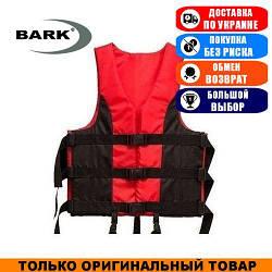 Жилет страховочный красно-черный Bark 30-50кг. Оксфорд; (Спасательный жилет).