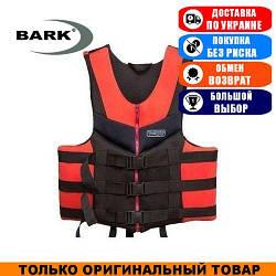 Жилет страховочный красно-черный Bark 30-50кг. Неопрен; (Спасательный жилет).