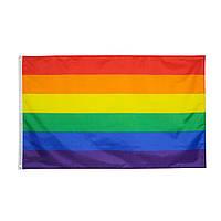 Радужный флаг ЛГБТ 150х90см, разноцветный флаг