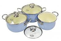 Набор эмалированных кастрюль 6 предметов 26-224-023 Krauff