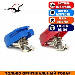 Клеммы для аккумулятора с крышками 2шт. (Медь ААА 11521)