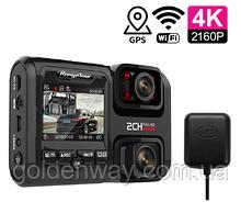 Видеорегистратор на 2 камеры Rangee Tour D30H + GPS,WiFi, 4K,  запись салона для такси и автобусов CPA