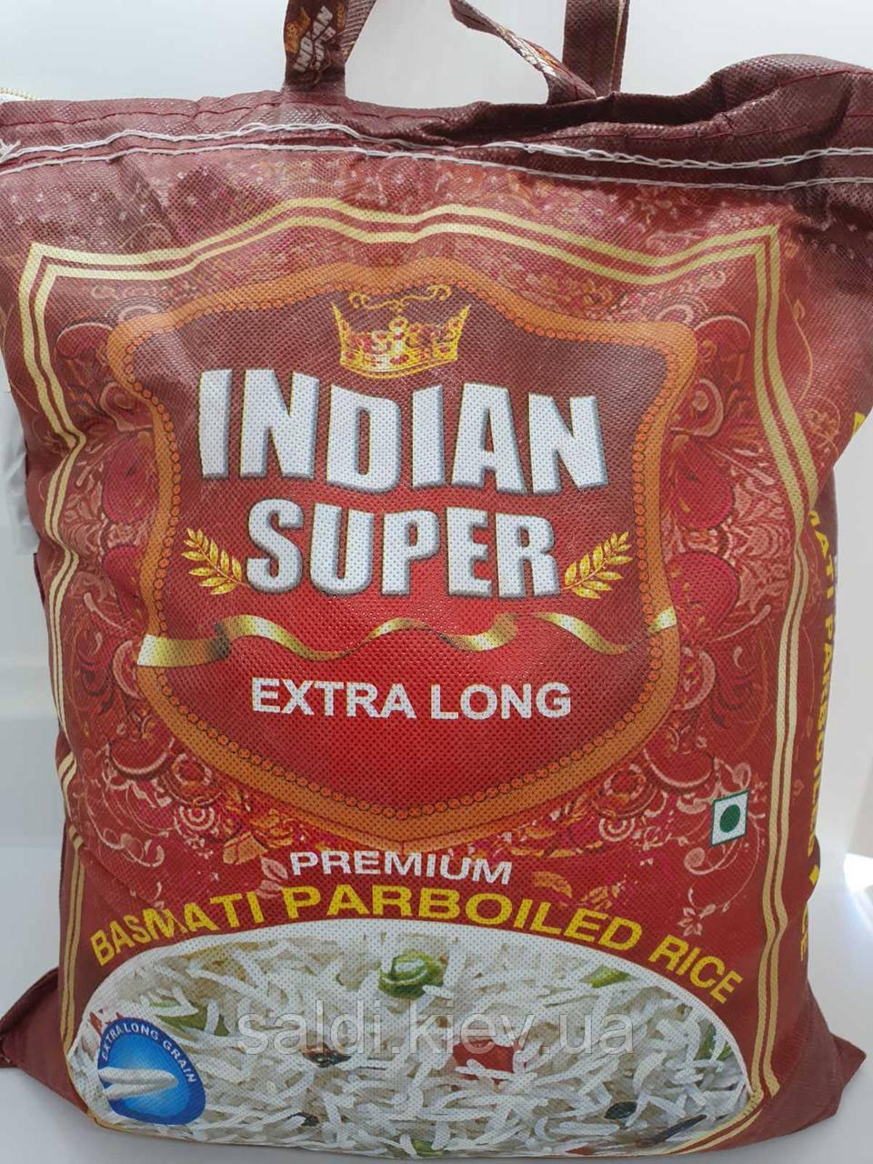 Рис басмати пропаренный Indian Super Extra Long 1 кг
