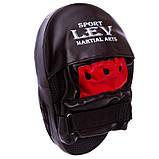 Лапы боксёрские LEV SPORT гнутые красные, фото 3