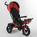 Трехколесный велосипед красный Best Trike 6088 F поворотное сидения складной руль надувные колеса фара с USB, фото 2
