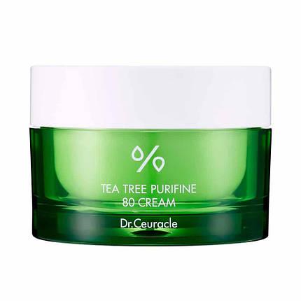 Крем с экстрактом и маслом чайного дерева для проблемной кожи Dr.Ceuracle Tea Tree Purifine 80 Cream, 50гр, фото 2