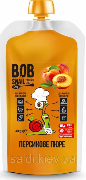 Натуральное персиковое пюре Bob Snail 400 г