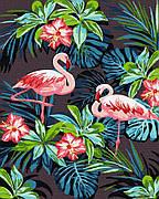Картина по номерам Rainbow Art Фламинго в цветах 40*50 см (без коробки) арт.BK-GX26535