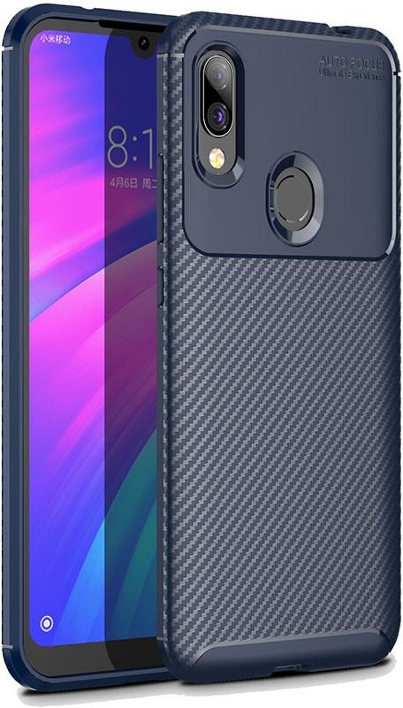 Чехол-накладка TOTO TPU Carbon Fiber 1,5mm Case Xiaomi Redmi 7 Dark Blue #I/S