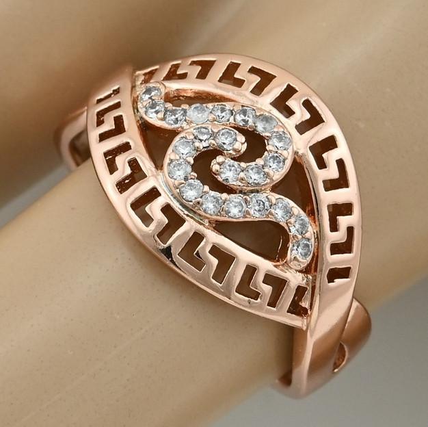 Кольцо Xuping 15278 размер 19 белые фианиты ширина 13 мм вес 2.7 г позолота РО