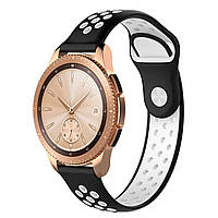 Ремешок BeWatch sport-style для Samsung Galaxy Watch 42 мм Черно-Белый (1010112.2), фото 1
