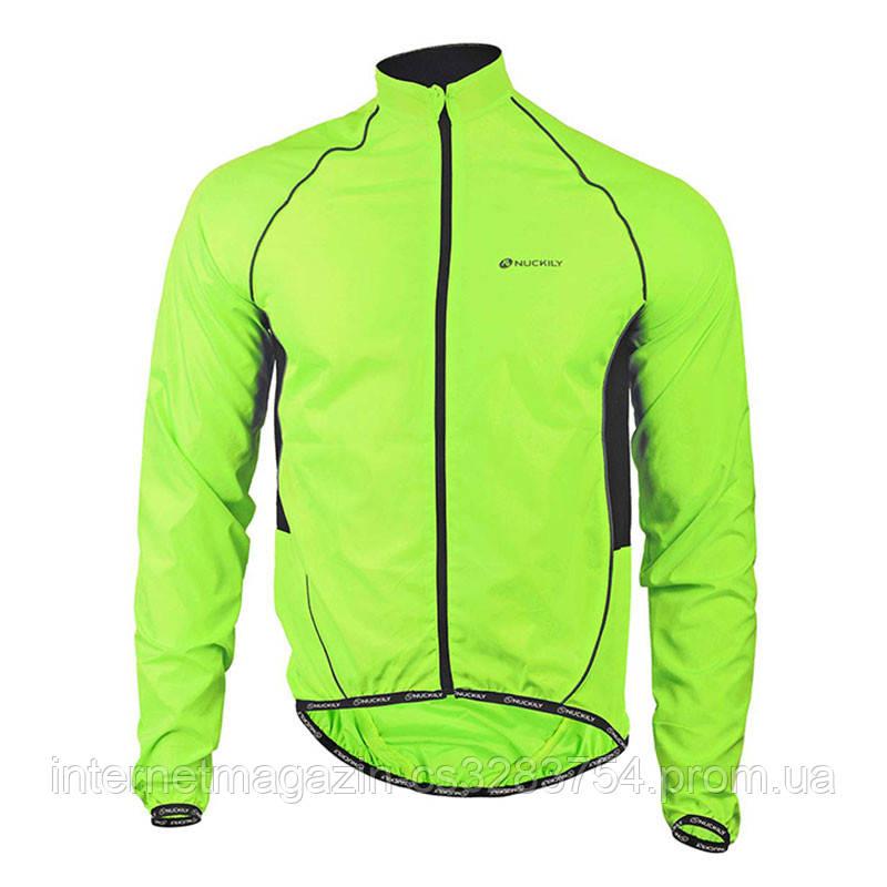 Ветровка велосипедная Nuckily MJ004 Fluorescent 3XL Салатовый (5081-14964)