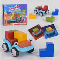 """Развивающая игра """"Машинка - головоломка"""" UKB-B 0043 """"Fun Game"""", на украинском языке, в коробке, Подарок для"""
