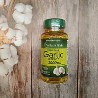 Puritan's Pride Garlic Extract 250 caps 1000 mg , экстракт чеснока