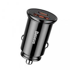 Адаптер автомобільний універсальний 1xUSB 5А Baseus USB Car Charger Black (CCALL-YS01)