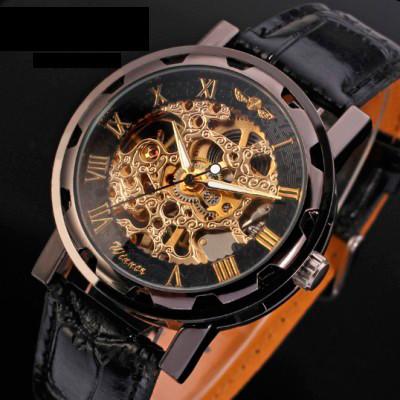 Winner Мужские часы скелетон механические Winner Chocolate 7231