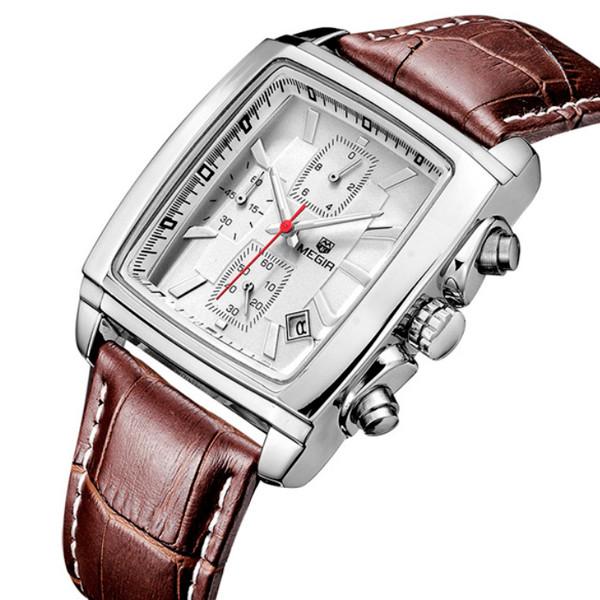 Megir Мужские классические кварцевые часы Megir Matrix 1043