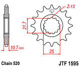 Звезда передняя с резиновой вставкой JT Sprockets JT JTF1595.16RB, фото 2