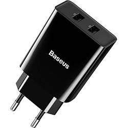 Мережевий зарядний пристрій 2USB Baseus Speed ??Mini (2.1 A) (CCFS-R01) Black