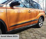 Молдинги на двери Suzuki Vitara 2015+, фото 2