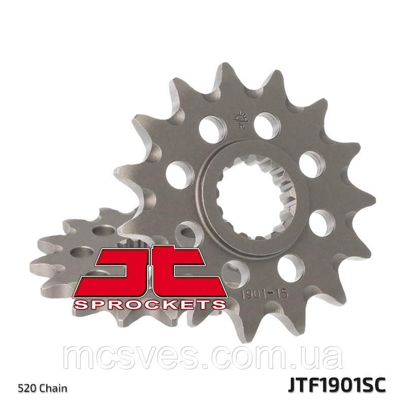 Звезда стальная передняя JT Sprockets JT JTF1901.15SC
