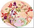 Тарелка бумажная цветная  230мм