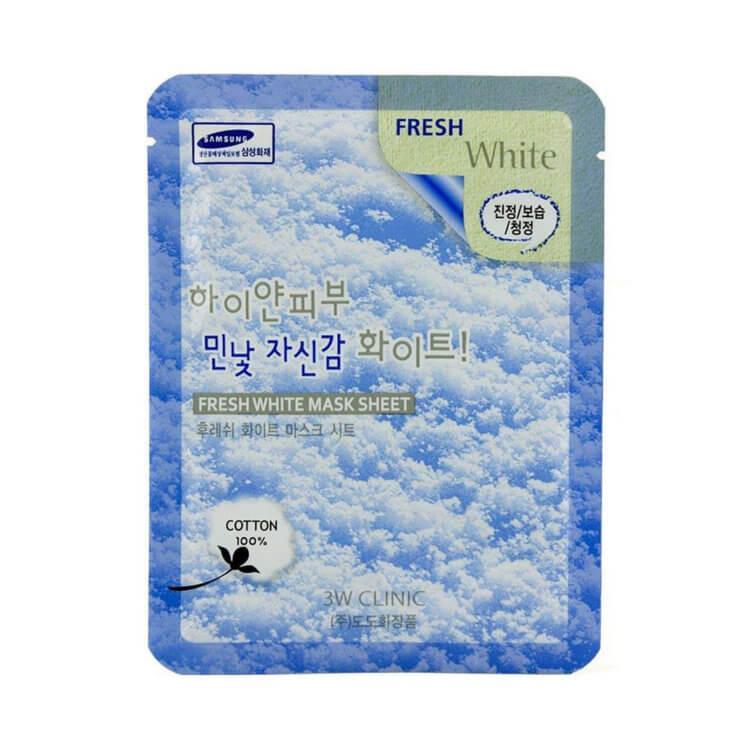 Освітлююча тканинна маска 3W Clinic Fresh White Sheet Mask