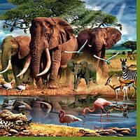 "Салфетки для декупажа ""Africa №5"" (Африка) 33*33 см №168"