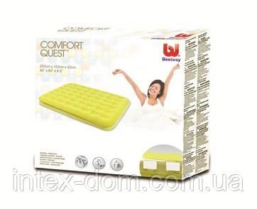 Bestway 67390 (203x152x22 см.) Двухместный надувной матрас (Желтый)