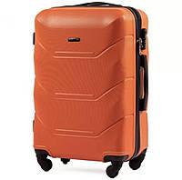 Дорожный чемодан wings 147 оранжевый размер S (ручная кладь), фото 1