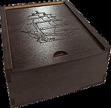 Подарочная коробка деревянная с надписью 10х7х5. Подарочные коробки