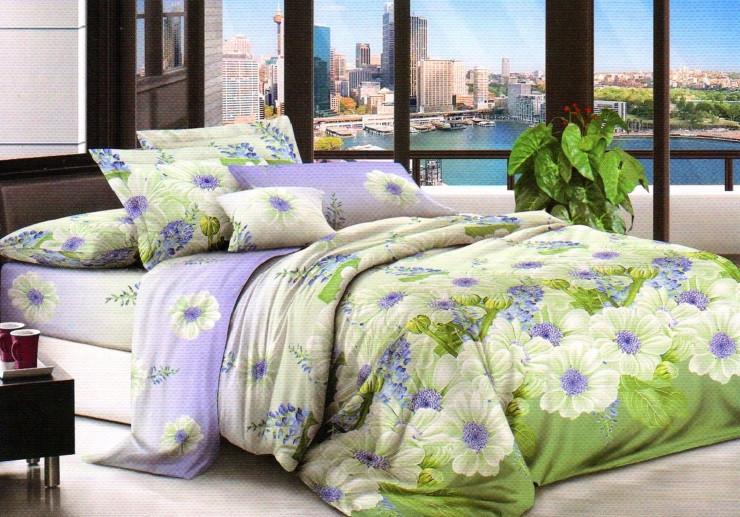 Бязь  Евро комплект постельного белья 200х215см постельное бельё комплекты белья евро размер