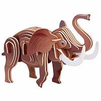 3D-пазл Игрушки из дерева Слон М029с, КОД: 2436575