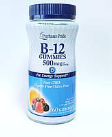 Витамин В12 (цианокобаламин)  Vitamin B 12 Puritan's Pride 500 мг,  60 жевач.