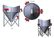 Пневмоимпульсная система очистки силосов (бункеров)