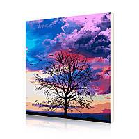 "Картина по номерам Lesko DIY PH9607 ""Пурпурное небо"" 40-50см (5742-19216)"