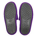 Тапочки женские фиолетовые меховые на мягкой подошве для дома стильные утепленные р.37-40, фото 4