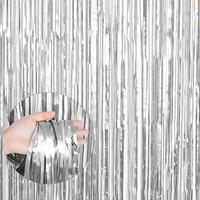 Шторка матовая фольгированная для фотозоны, Цвет:Серебро Сатин. Размер: 2м*1м.