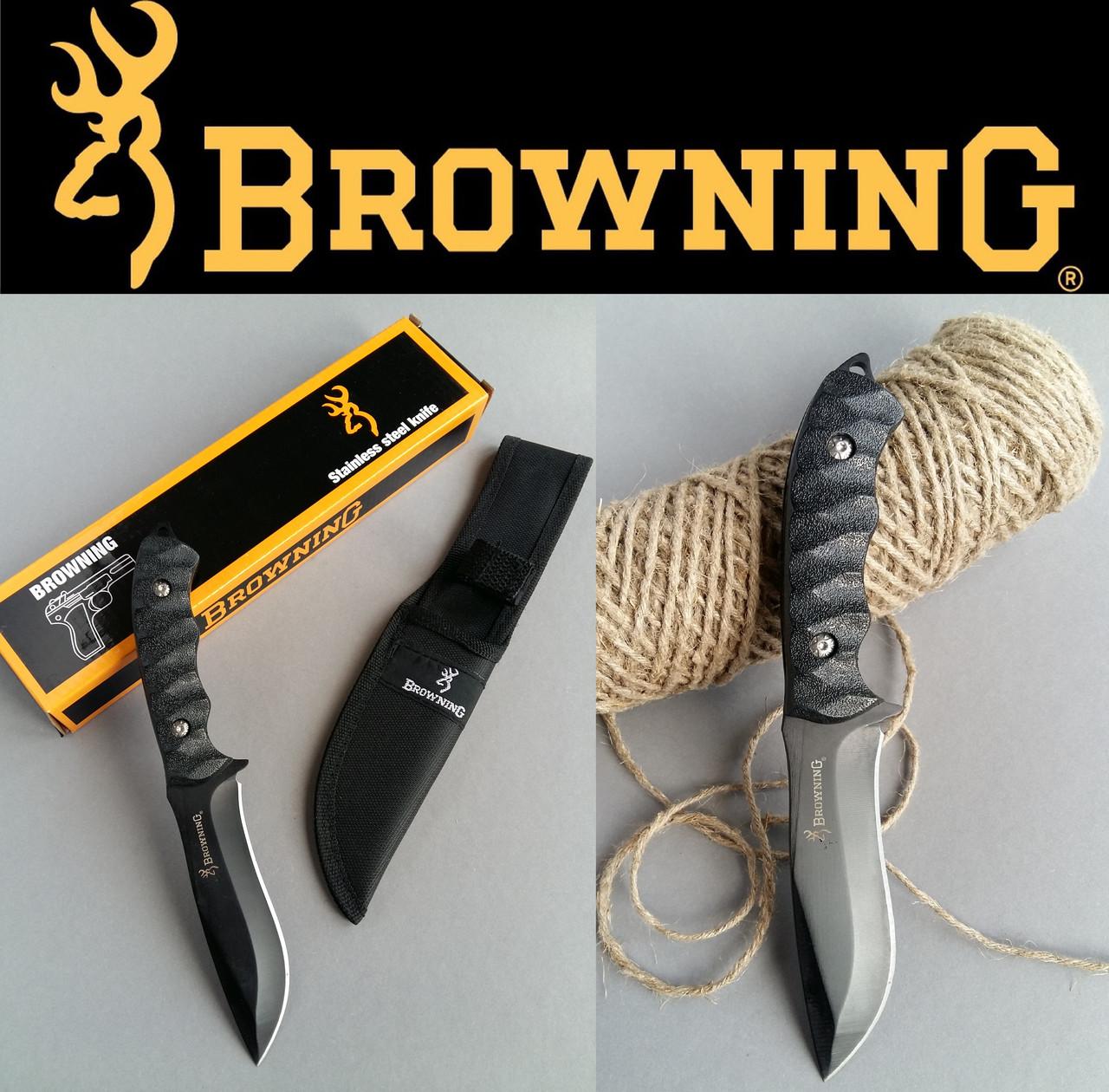 Тактический нескладной нож Browning. Ножи туристические и охотничьи с фиксированным клинком
