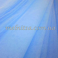 Фатин  голубой, ширина 1,40 м