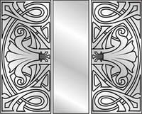 Зеркала для шкафов-купе с рисунком
